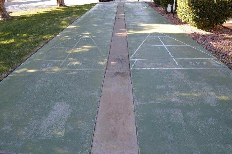 Shuffleboard at clubhouse