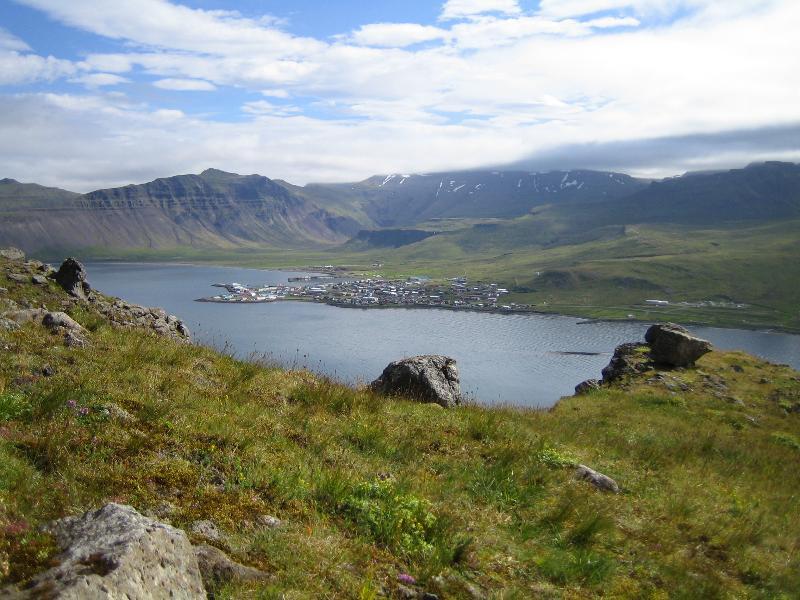 Grundarfjörður seen from Mount Kirkjufell