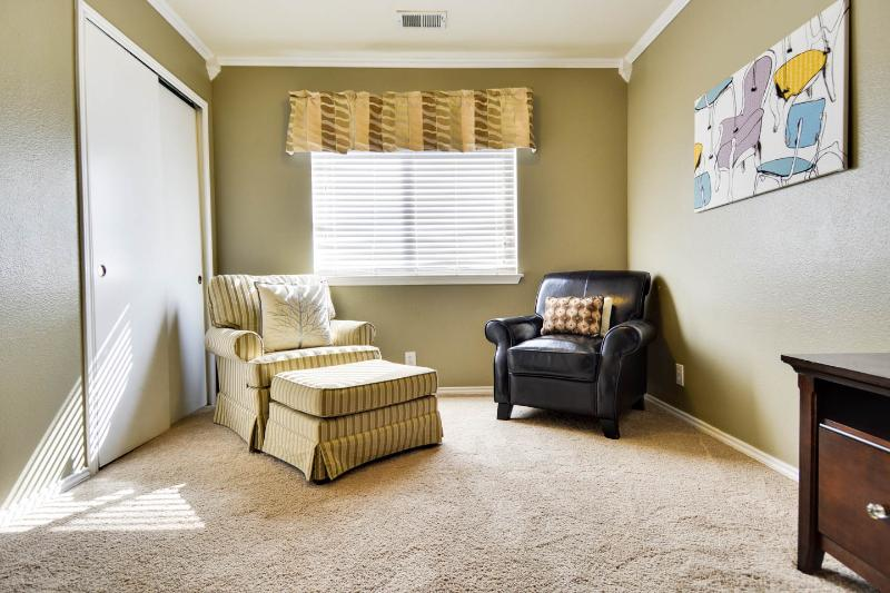 Sitting area in master bedroom.
