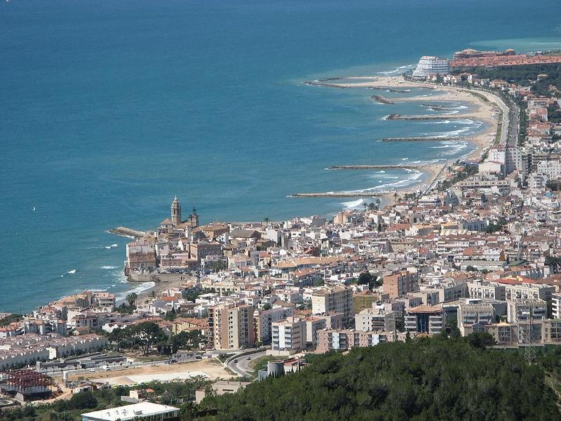Aerial view of Sitges