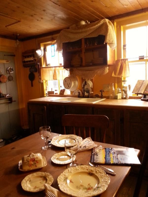 Dining area in the 18th century kitchen