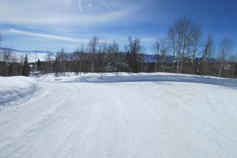 Winter roads at the cabin area