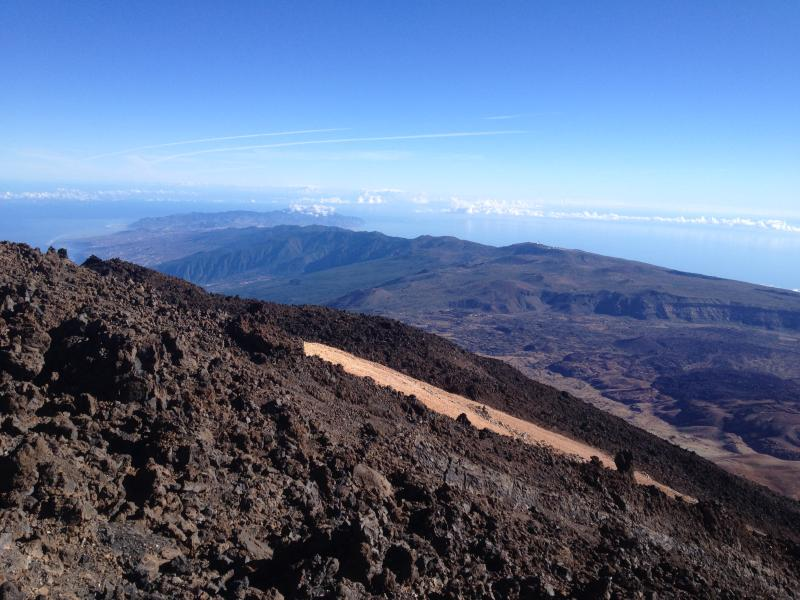 View of Tenerife from 3.555m