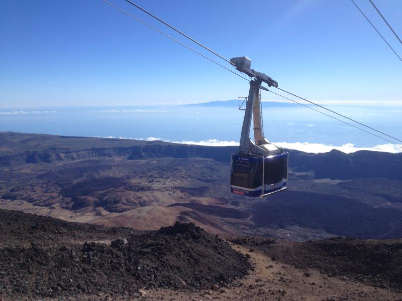 A cable car will take you from El Teide base to 3.555m.