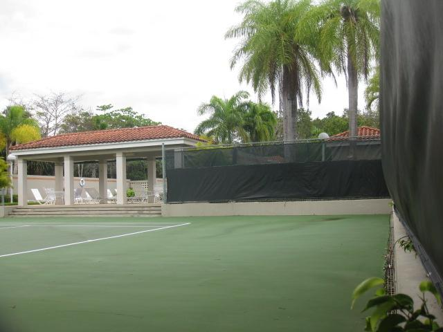 Tennis court steps away- included in your rental