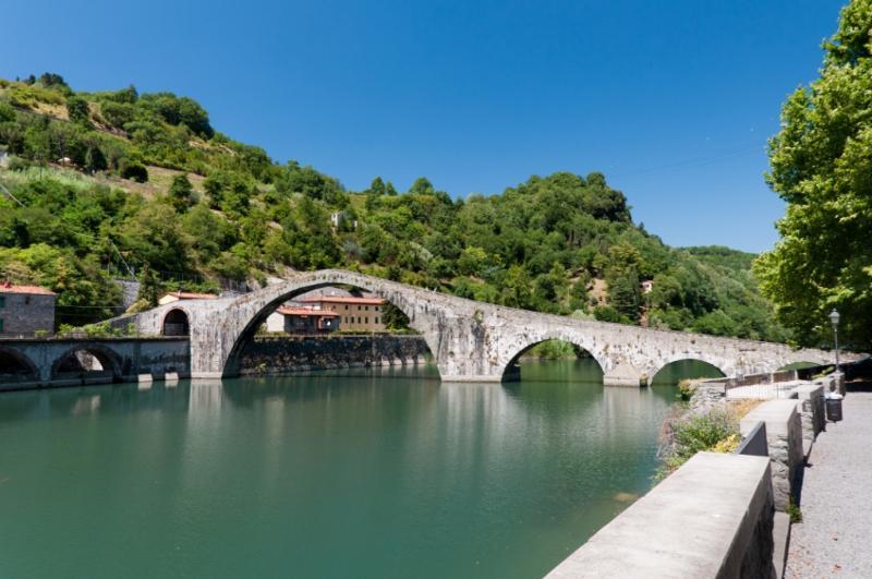 Devils Bridge at Borgo a Mozzano