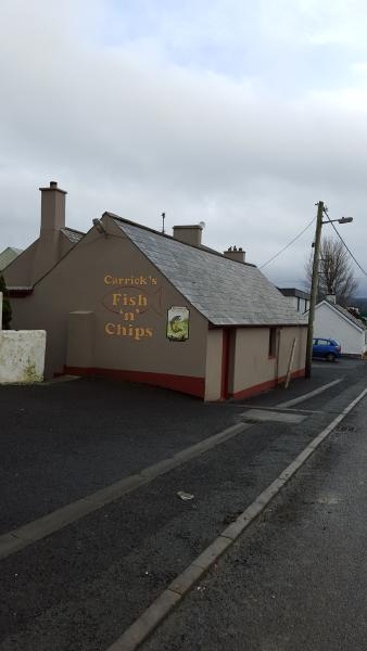 Carricks Fish & Chips with local bar attached a short stroll from property