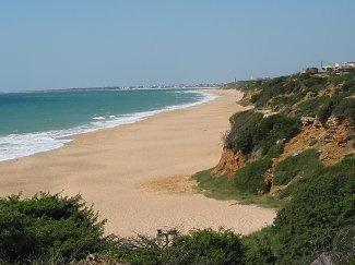 Long beach, 11 km length, white sand