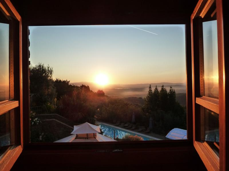 View from the bath room