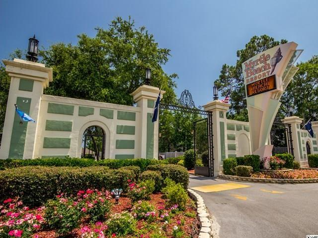 Gated Entrance to Resort