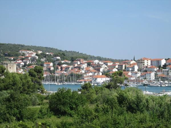 Trogir-view from the top of the house. Kamerlengo Fortress is only 5 min walk from the property.
