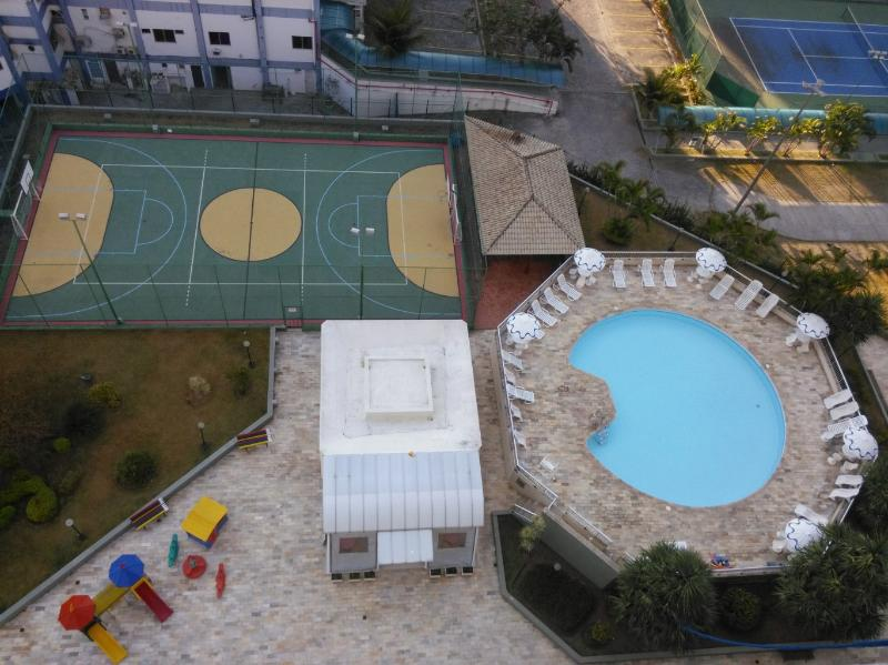 Pool, grill, sport court, playground, cafeteria