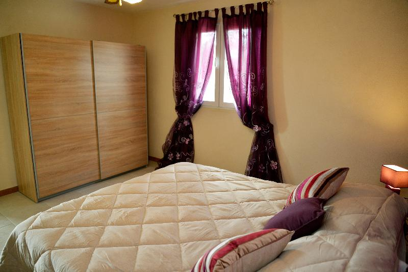 Bedroom 1; two singlebeds or one large double.  Spacious bedroom; large wardrobe with some shelves