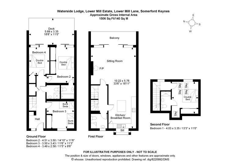 Here are the floor plans of this amazing 4 x bedroom lakeside holiday villa