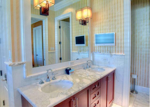dual vanity in master bathroom!