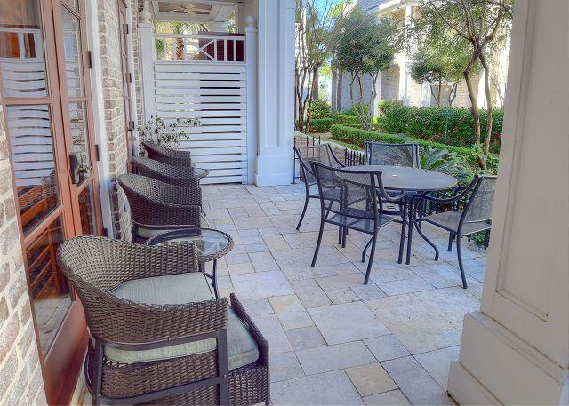 patio out front by the entrance