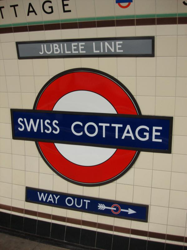 Swiss Cottage is the closest underground station, 3 minutes walk away