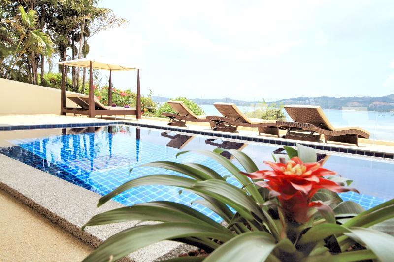 Pool and Terrace overlooks Bang Rak Bay