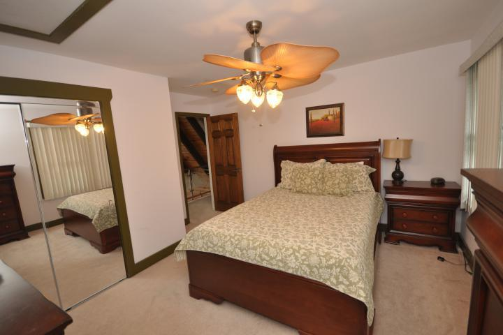 BR#5 has large closet, ceiling fan and luxurious queen bed.