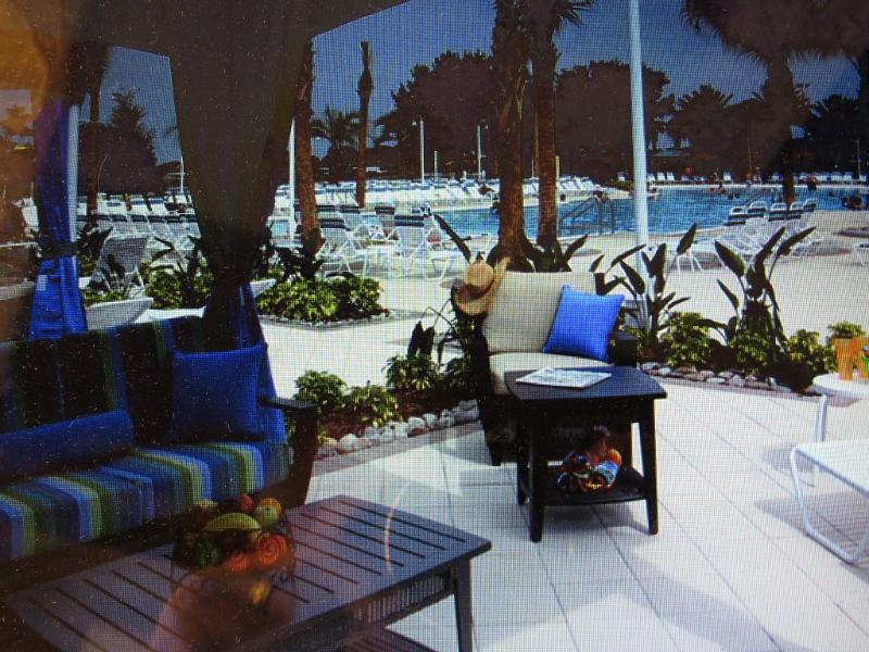 Private 'CABANAS' c/w TV available, around the 'LAZY  RIVER' swim area