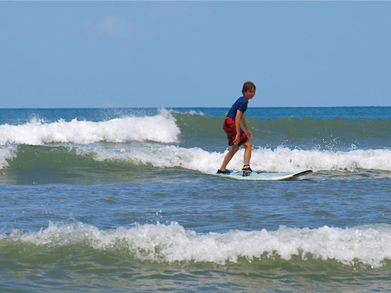 Rent a board, take a lesson and learn to surf right in Kihei, at Cove Beach near condo