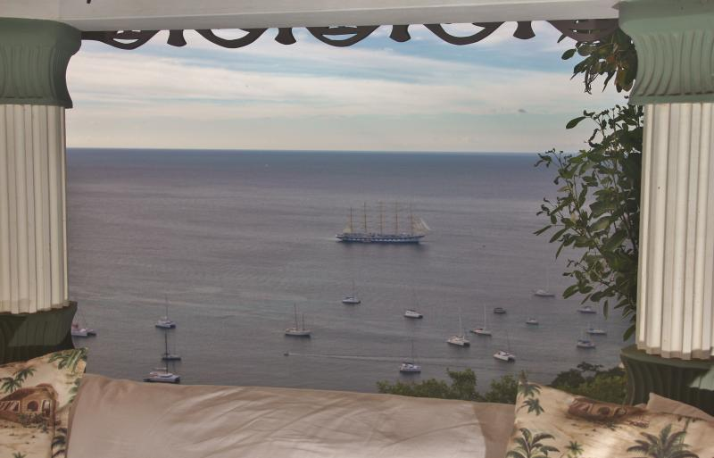 The largest sailing ship in the world as seen from the Gazebo