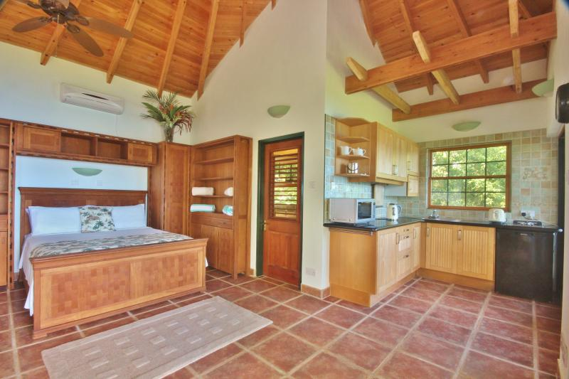 Hibiscus Cottage has a well equipped kitchenette
