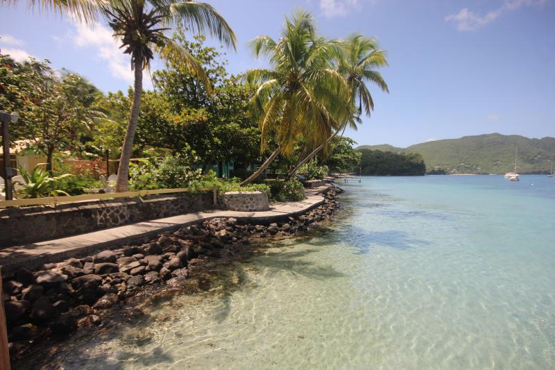 The recently restored Belmont Walkway joins 3 of Bequia's best beaches to the harbour