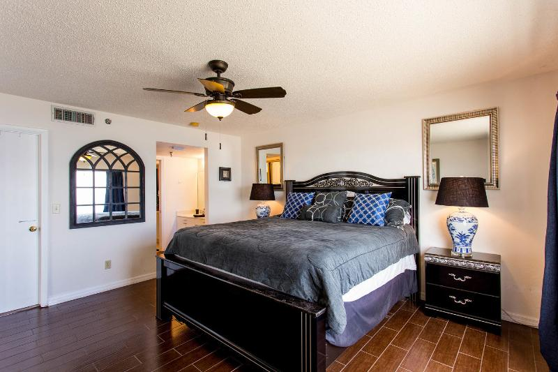 The Master Bedroom (large ocean front bay window on RHS - see next pic)