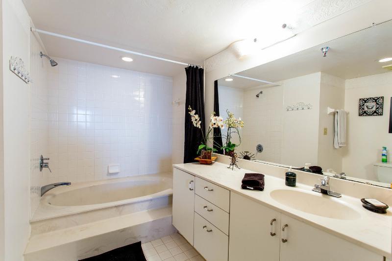Master Bathroom w Sunken Roman Tub! Two vanities...