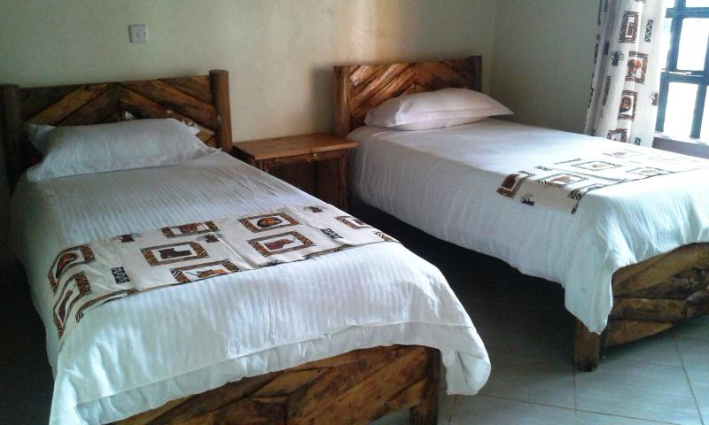 Twin beds in each room