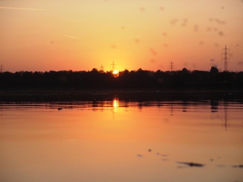 Sunset over the lake --- sunset over the lake