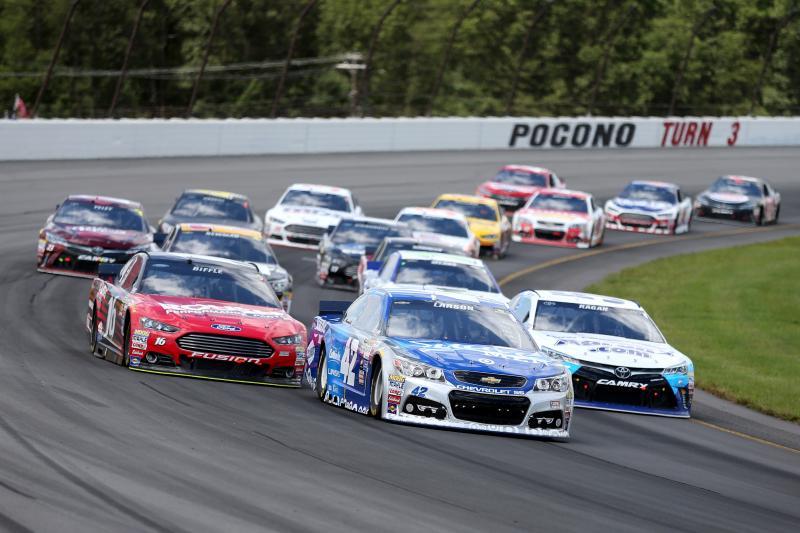 Pocono Raceway 17 min away