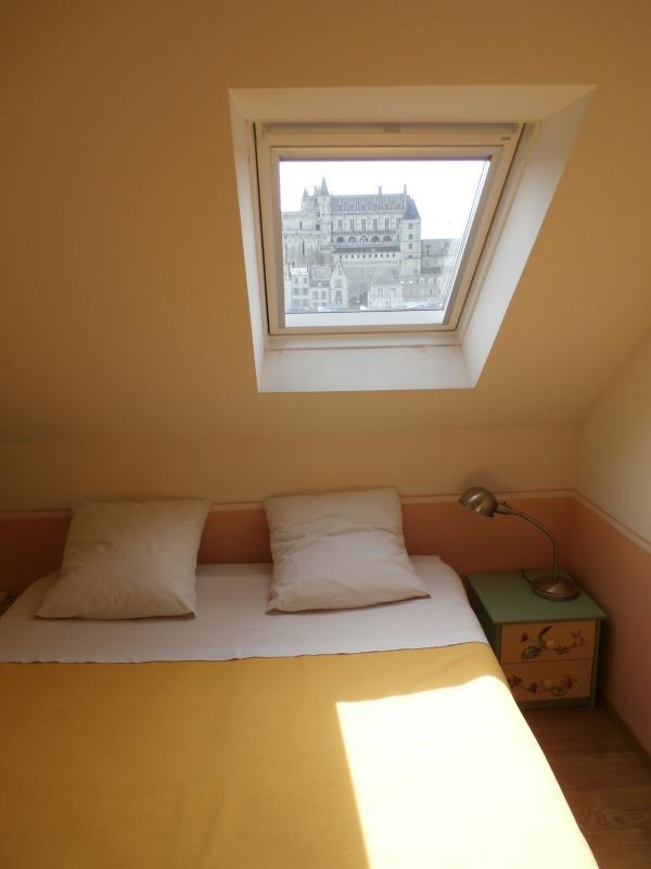 Chambre coté Loire : le Velux semble encadrer le château