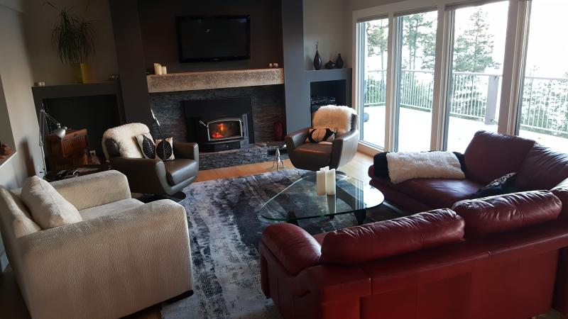 Cozing living room with fireplace