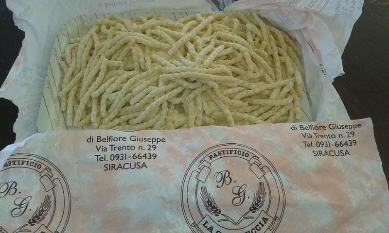 Fresh pasta from the local shop ( and Bruno's nephew)