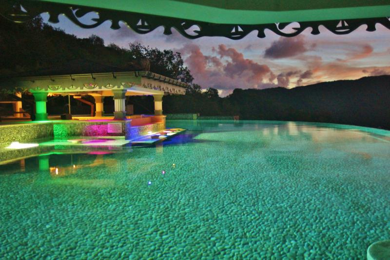The Infinity Pool in the evening is simply stunning