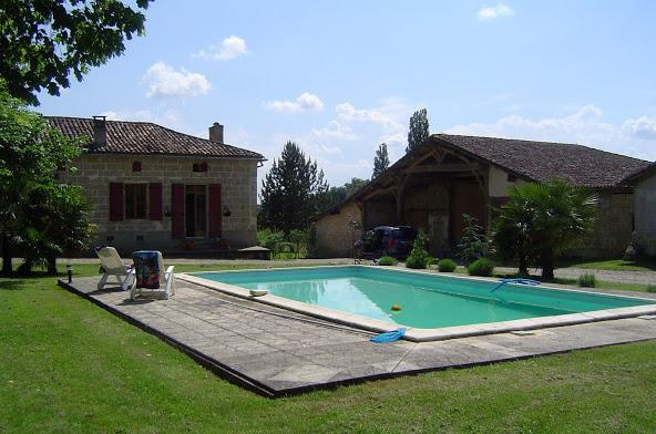 The  gite and pool, sit amongst a small fruit orchard, cut flower garden, potager, herb garden