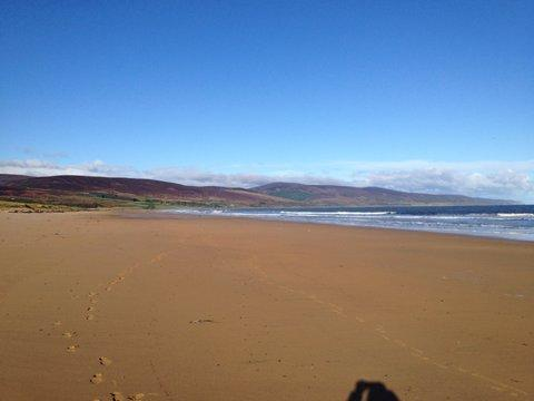 Brora beach, walk out the apartment, over the golf course (yes you are allowed!) and you are there