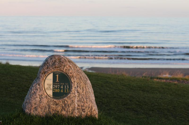 The 1st tee at Brora Links - a James Braid course