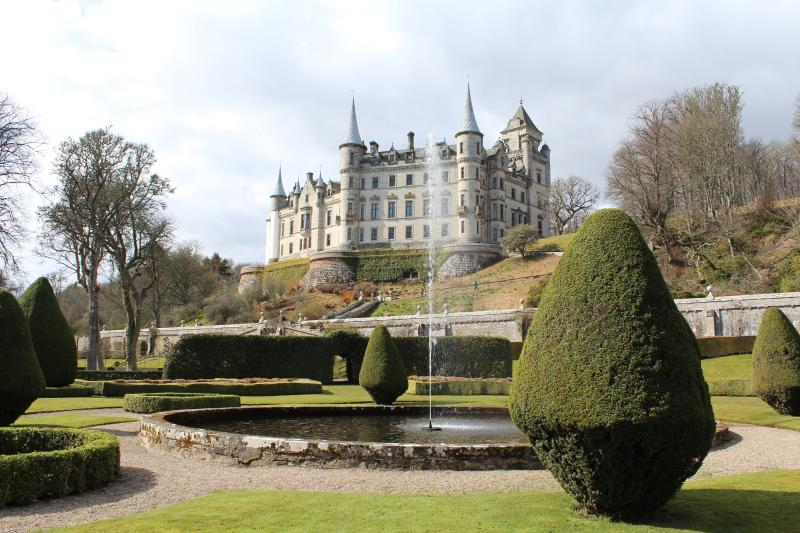 Dunrobin castle is only 6 miles south of the apartment