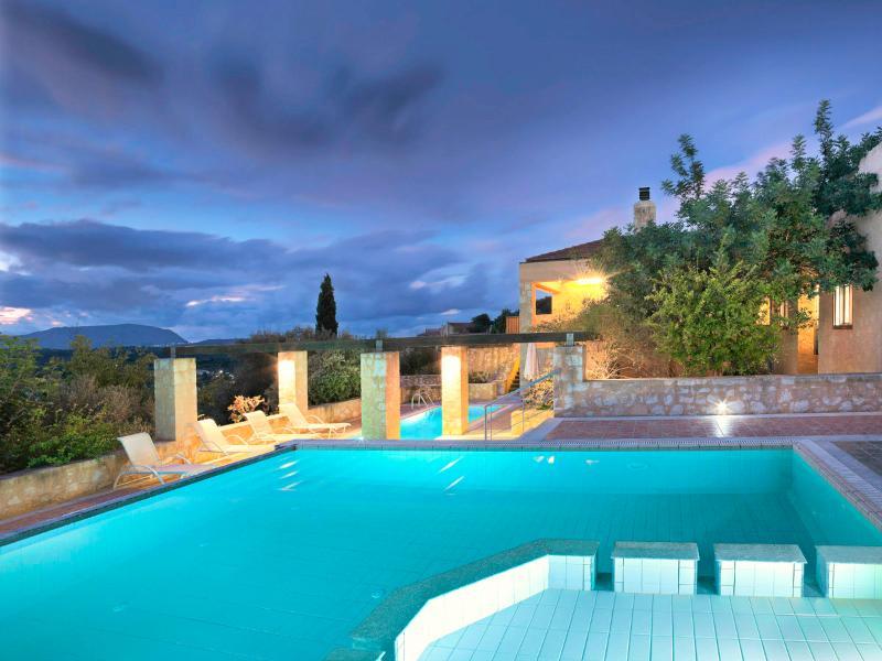Main pool during sunset