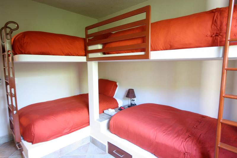 4 twin built-in bunk beds for the young at heart