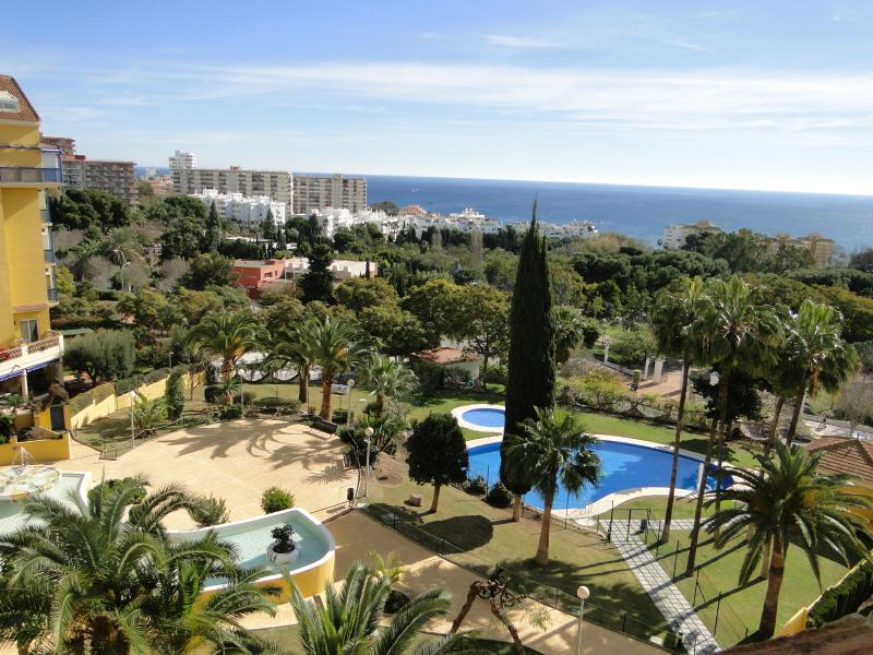 Panoramic sea and park