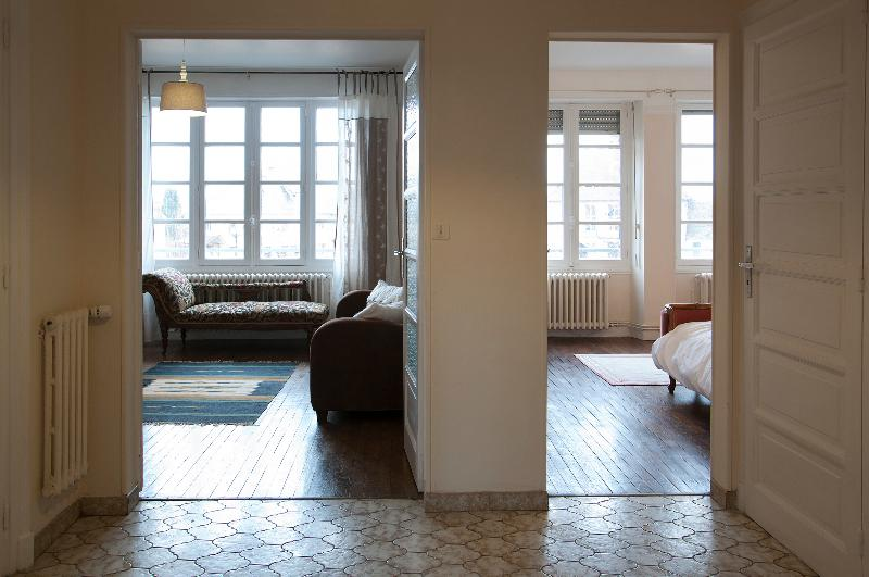 The apartment is large & spacious with high ceiling & beautiful oak parquet flooring