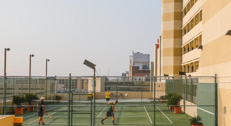 Tennis court on site just outside room