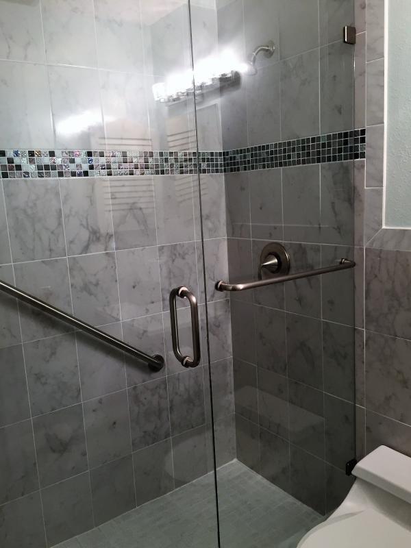 Walk-in Shower in Upper Bathroom