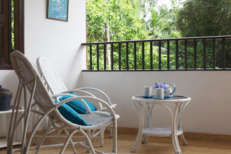 A lovely balcony for you to relax and enjoy the view.