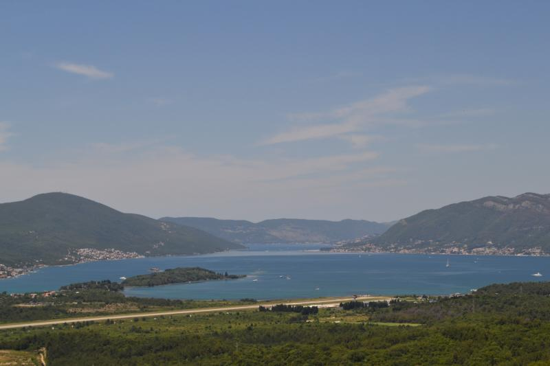 Bayview Apartments. View of Tivat Bay