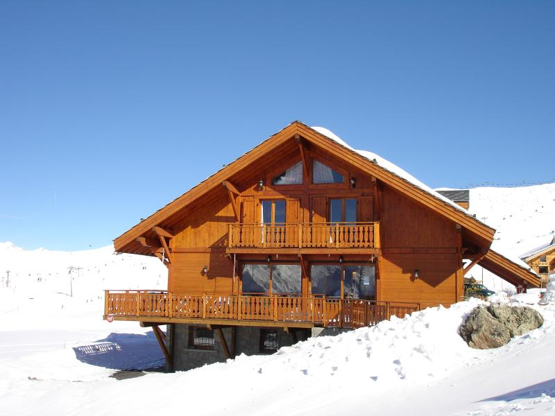 Luxury ski in-ski out Chalet right on the slopes.
